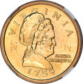 Patterns, (1999) Sacagawea Prototype Composition Disks MS66 NGC.... (Total: 2 coins)