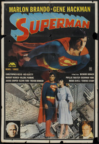 """Superman the Movie (Warner Brothers, 1978). Turkish Poster (26.5"""" X 39""""). Action"""