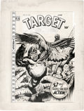 Original Comic Art:Covers, L. B. Cole - Target Comics V9#4 Cover Original Art (NoveltyPublications, 1948). ...