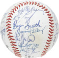 Autographs:Baseballs, 1992 St. Louis Cardinals Team Signed Baseball. Skipper Joe Torretakes his appropriate sweet spot position upon this ONL (W...