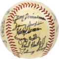 Autographs:Baseballs, 1979 Minnesota Twins Team Signed Baseball. Twenty-one tremendouslybold black ink signatures coat the shellacked surface of...