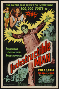 "Indestructible Man (Allied Artists, 1956). One Sheet (27"" X 41""). Horror"