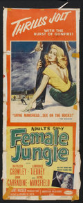 """Movie Posters:Film Noir, Female Jungle Lot (American Releasing Corp., 1956). Insert (14"""" X 36"""") and One Sheet (27"""" X 41""""). Film Noir.. ... (Total: 2 Items)"""