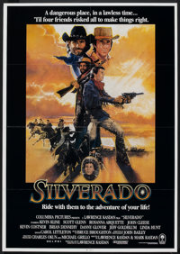 "Silverado (Columbia, 1985). One Sheet (28"" X 40"") and Lobby Card (11"" X 14""). Western. ... (Total: 2..."