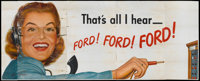 """Ford Telephone Advertising Poster (Ford Telephone, Late 1940s). 24 Sheet (104"""" X 232"""")"""