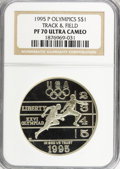 Modern Issues: , 1995-P $1 Olympic/Track & Field Silver Dollar PR70 Ultra CameoNGC. NGC Census: (0/0). PCGS Population (4/0). Numismedia W...