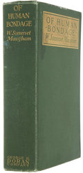 Books:First Editions, W. Somerset Maugham. Of Human Bondage. New York: George H.Doran, [1915].. First edition, first issue. Octavo....