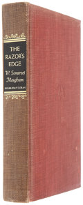 Books:Signed Editions, W. Somerset Maugham. The Razor's Edge. Garden City:Doubleday, 1944.. Number 101 of 750 limited edition copies...