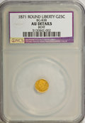 California Fractional Gold: , 1871 25C Liberty Round 25 Cents, BG-838, R.2,--Bent--NCS. AUDetails. NGC Census: (0/64). PCGS Population (10/393). (#106...