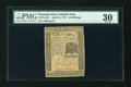 Colonial Notes:Pennsylvania, Pennsylvania April 25, 1776 30s PMG Very Fine 30....