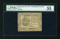 Colonial Notes:Continental Congress Issues, Continental Currency February 26, 1777 $7 PMG About Uncirculated55....