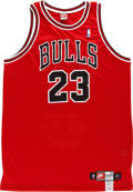 Basketball Collectibles:Uniforms, Michael Jordan UDA Signed Stats Jersey. ...