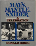 Autographs:Others, Willie Mays, Mickey Mantle and Duke Snider Signed Book. ...