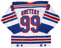 Hockey Collectibles:Uniforms, Wayne Gretzky UDA Signed Jersey. ...