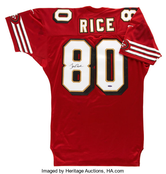 b15f2e199 Jerry Rice UDA Signed Jersey. ... Football Collectibles Uniforms ...