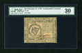 Colonial Notes:Continental Congress Issues, Continental Currency February 17, 1776 $8 PMG Very Fine 30....