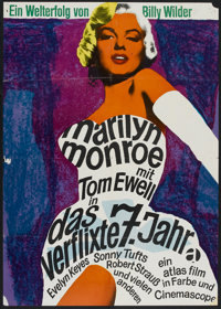 """The Seven Year Itch (20th Century Fox, R-1966). German A1 (23"""" X 33""""). Comedy"""