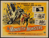 "The Monolith Monsters (Universal International, 1957). Half Sheet (22"" X 28""). Science Fiction"