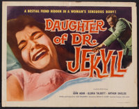 "Daughter of Dr. Jekyll (Allied Artists, 1957). Half Sheet (22"" X 28""). Horror"