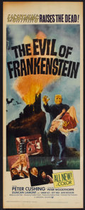 "Movie Posters:Horror, The Evil of Frankenstein (Universal International, 1964). Insert (14"" X 36""). Horror.. ..."