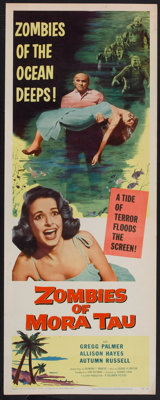 "Zombies of Mora Tau (Columbia, 1957). Insert (14"" X 36""). Horror"