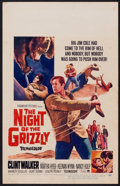 "Movie Posters:Adventure, The Night of the Grizzly (Paramount, 1966). Window Card (14"" X22""). Adventure.. ..."