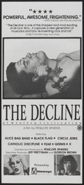 "Movie Posters:Rock and Roll, The Decline of Western Civilization (Filmways, 1981). AustralianDaybill (13"" X 30""). Rock and Roll.. ..."