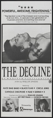 "The Decline of Western Civilization (Filmways, 1981). Australian Daybill (13"" X 30""). Rock and Roll"