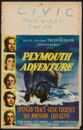 "Movie Posters:Adventure, Plymouth Adventure Lot (MGM, 1952). Window Cards (2) (14"" X 22"").Adventure.. ... (Total: 2 Items)"