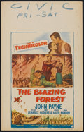 "Movie Posters:Adventure, The Blazing Forest Lot (Paramount, 1952). Window Cards (2) (14"" X22""). Adventure.. ... (Total: 2 Items)"