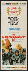 "Movie Posters:War, The Longest Day (20th Century Fox, R-1969). Insert (14"" X 36"").War.. ..."