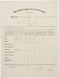 "Autographs:Military Figures, Robert E. Lee Document Signed ""R E Lee"" as president ofWashington College. One page, 8"" x 10.5"", November 30, 1..."