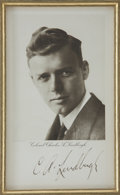 "Autographs:Celebrities, Charles Lindbergh Photo Signed ""C. A. Lindbergh"". B/w, 4.75"" x 8"" [sight], n.d., n.p. ""Colonel Charles A. Lindbergh""..."