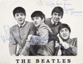 Music Memorabilia:Autographs and Signed Items, Beatles Band-Signed Photo....