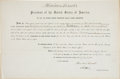 "Autographs:U.S. Presidents, Abraham Lincoln Document Signed ""Abraham Lincoln"", countersigned by Secretary of Treasury Salmon P. Chase immediatel..."