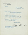 "Autographs:U.S. Presidents, Franklin Roosevelt Typed Letter Signed ""Franklin D.Roosevelt"" as president. One page, 7"" x 9"", February 24, 1936,H..."