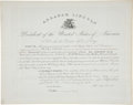 "Autographs:U.S. Presidents, Abraham Lincoln Document Signed ""Abraham Lincoln"" as the sixteenth president. One page, 19"" x 15"", July 29, 1861, ""Cit..."