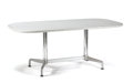 Furniture , CHARLES & RAY EAMES FOR HERMAN MILLER. An Aluminum and Marble Table, circa 1958. 29-1/2 x 72 x 36 inches (74.9 x 182.9 x 91....