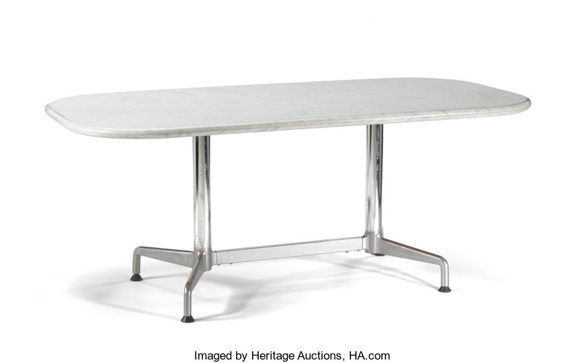 CHARLES RAY EAMES FOR HERMAN MILLER An Aluminum And Lot - Eames marble table