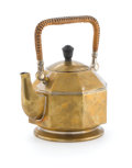 Decorative Arts, Continental, PETER BEHRENS FOR AEG. A Brass and Wicker Octagonal ElectricKettle, circa 1909. Stamped on base: 42412, 24. 8-1/2 x 7-3/4 x...