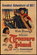 "Treasure Island (RKO, 1950). One Sheet (27"" X 41""). Adventure"