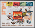 "Movie Posters:Fantasy, The 3 Worlds of Gulliver (Columbia, 1960). Title Lobby card and Lobby Cards (3) (11"" X 14""). Fantasy.. ... (Total: 4 Items)"