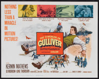 "The 3 Worlds of Gulliver (Columbia, 1960). Title Lobby card and Lobby Cards (3) (11"" X 14""). Fantasy. ... (Tot..."