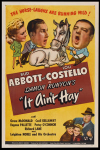"""It Ain't Hay (Universal, 1943). One Sheet (27"""" X 41""""). Comedy"""