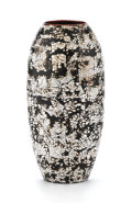 Decorative Arts, French:Other , JEAN DUNAND. An Eggshell and Lacquer Vase, circa 1930. Impressed on base: JEAN DUNAND. 7-1/8 inches (18.1 cm) high. ...