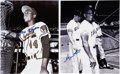 Autographs:Photos, Hank Aaron and Willie Mays Signed Photographs. ... (Total: 2 items)