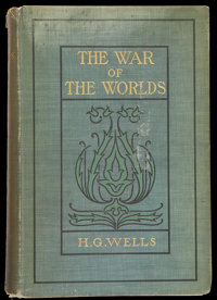 "The War of the Worlds (Harper Brothers, 1898). Hardcover Book (5"" X 7.5"", 291 Pages) and Paperback Book (4.25&..."