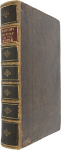 Books:Non-American Editions, Walter Raleigh. The History of the World, in Five Books.London: Tho. Baffet, Ric. Chiswell, Benj. Took, etc., 1687....