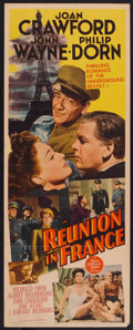 "Movie Posters:War, Reunion in France (MGM, 1942). Insert (14"" X 36""). War.. ..."