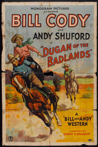 "Dugan of the Badlands (Monogram, 1931). One Sheet (27"" X 41""). Western"